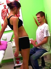 A massage with Caprice turns into a blowjob and fuck