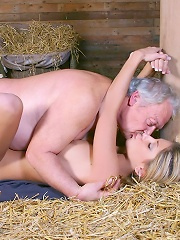 Girl going dirty with male senior