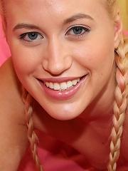 Kinky little blonde girl wants to taste man cock