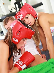 Little Caprice boxing and knocking out her fuck-buddy