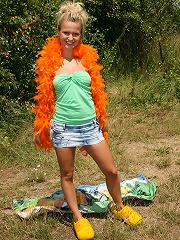 Cute dutch teenager