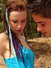Dude nailing a hot teenage diver