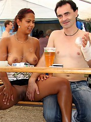 Sweetie fucked at a bar in summer