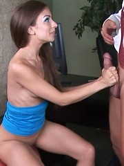 Private shrink screwing his patient to make her happy