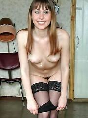 Naughty teen brunette