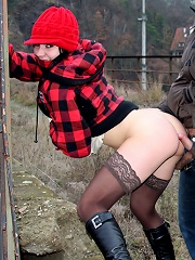 A senior having horny public sex